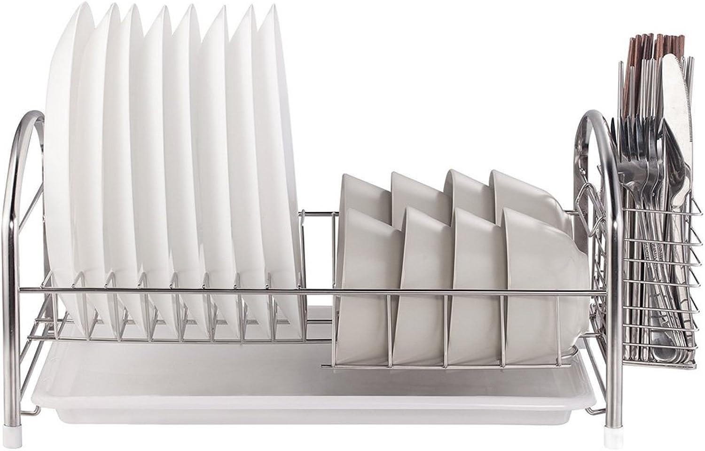 Best Shelves- Stainless Steel Kitchen Shelf Dish Rack Drain Rack Tableware Rack Home Rack (Size   1 Tier)