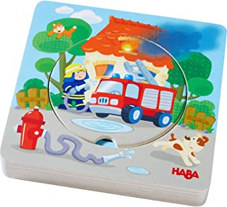 HABA Fire! Fire! Wooden Puzzle with Layered Disks for Ages 12 Months and Up