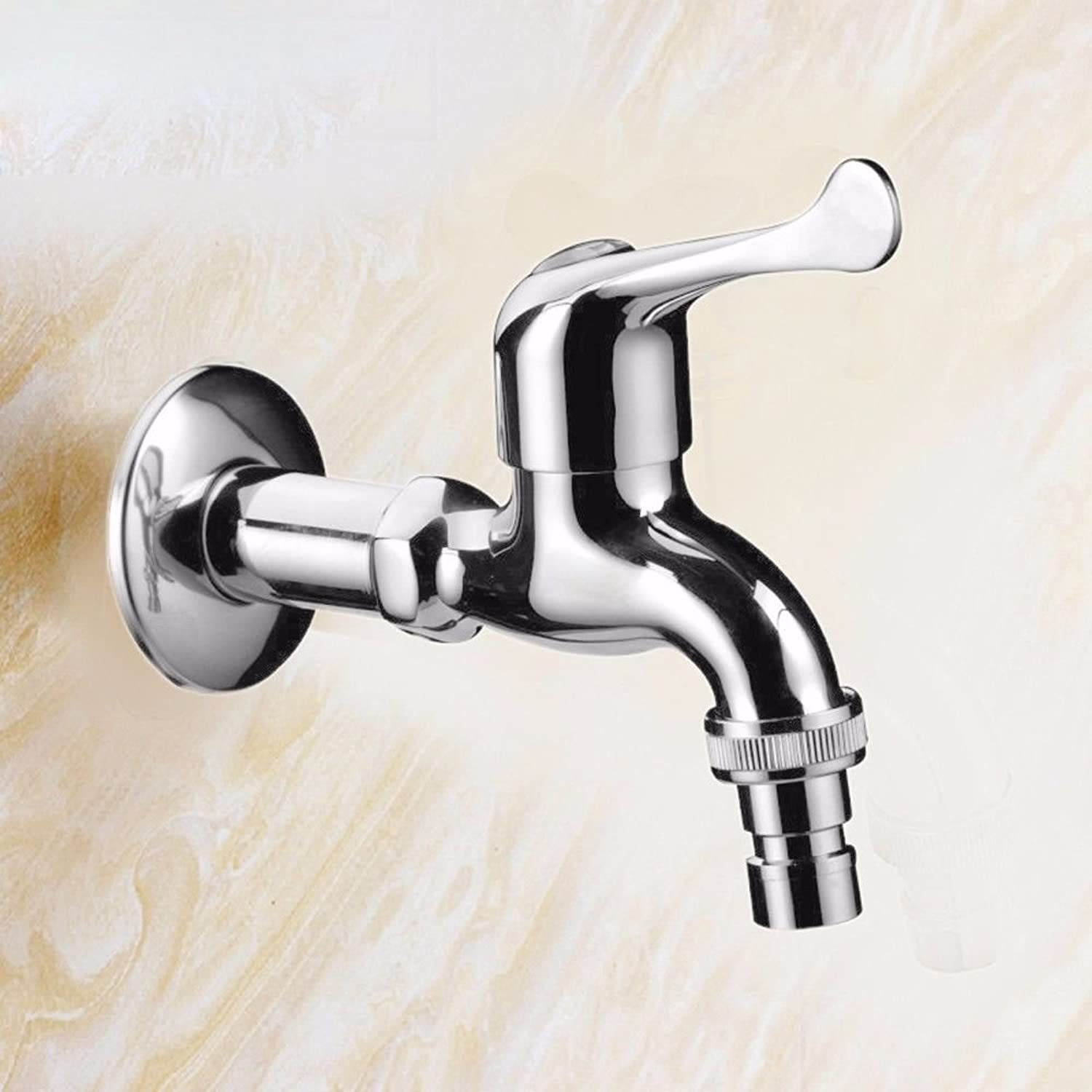 Lpophy Bathroom Sink Mixer Taps Faucet Bath Waterfall Cold and Hot Water Tap for Washroom Bathroom and Kitchen All Copper Single Cold All 4 Points Fast Open Water Nozzle Into The Wall