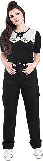 Pantalones Carpenter de Hell Bunny Denim Jeans de estilo de los años 40s 50s Vintage Retro Rockabilly