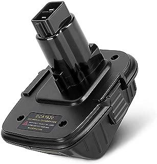 20V Battery Adapter DCA1820 for Dewalt 18V Tools Convert Dewalt 20V Lithium Battery DCB205 for Dewalt 18V NiCad &NiMh Battery Tools DC9096 DW9096 DC9098 DC9099 DW9099