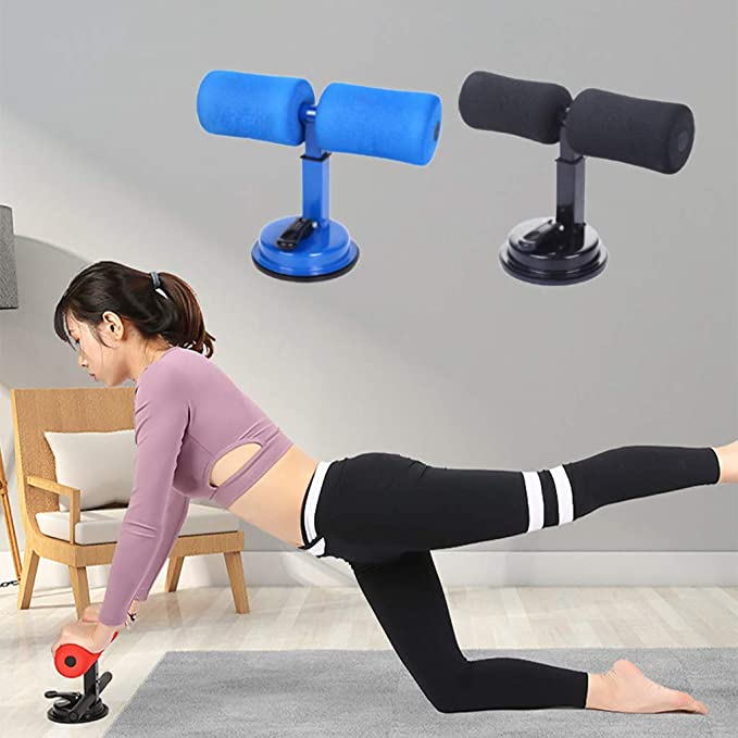 Portable Multi-Function Self-Suction Training Equipment for Home Travel or Work Adjustable Sit-Up Equipment Bar with 2 Suction Cups Sit Up Assistant Device