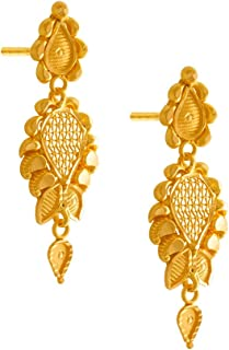 P.C. Chandra Jewellers 22KT Yellow Gold Jhumki Earrings for Women
