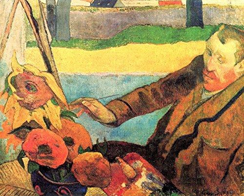 The Museum Outlet – Porträt von Vincent Van Gogh Gemälde Sonnenblumen von Van Gogh, gespannte Leinwand, Galerie verpackt. 58 x 78 cm