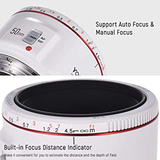 Redcolourful Yong-NUO YN50mm F1.8 II Lens Standard Prime Lens Large Aperture Auto Focus Camera Lens for Ca-Non EOS 70D 5D2 5D3 600D DS-LR Camera Products