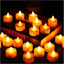 Candles 12Pcs Battery Operated LED Tea Lights Candles Flameless Flickering Weeding Decor (Color : 12pcs)