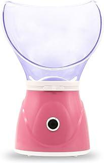 Facial Steamer + Acne Needle Set,Regalo del día de la madre,Profesional Facial Sauna Steam Inhaler Spa para Mascarilla Hidratante y Sinus con función de humidificador,Rosa
