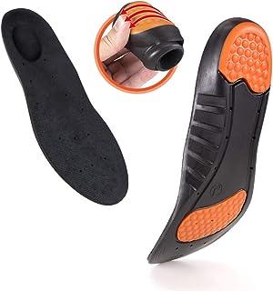 Shoe Insoles Women Men Relieve Plantar Fasciitis Heel Spurs & Foot Pain Sports Shock Absorption Shoe Inserts Memory Foam B...