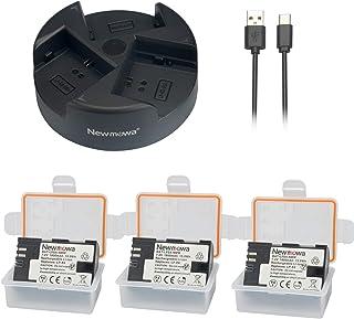 Newmowa LP-E6 LP-E6N Batería de Repuesto (2-Pack) y Kit de Cargador Doble para Micro USB portátil para Canon LP E6 LP E6N batería y Canon EOS 5D Mark II EOS 5D Mark III EOS 5D