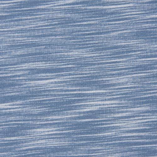 Mooi leven. Sweatstof melange strepen lichtblauw crème gemêleerd 1,5 m breed