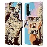 Head Case Designs Guitare De Grunge Tout de Musique Coque en Cuir à Portefeuille Compatible avec...