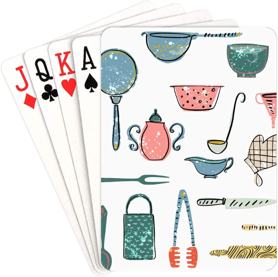 WUTMVING Colorful Playing Cards Watering Boy Play San Diego Mall Can Collection Las Vegas Mall