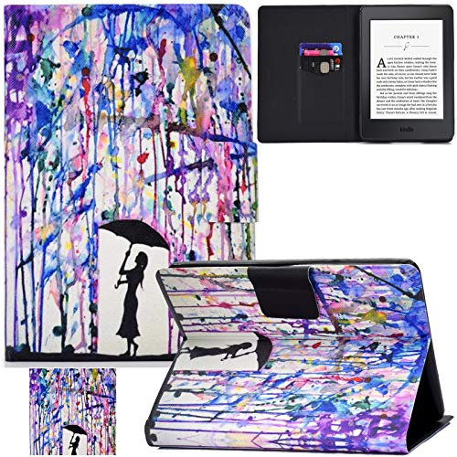 REASUN Kindle Paperwhite Case, PU Leather Card Solts Folio Smart Case with Auto Wake Sleep Feature Slim Cover for Amazon Kindle Paperwhite (Fits All 2012, 2013, 2015 and 2016 Versions), (Painting)