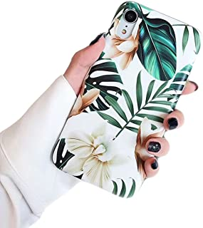 Ebetterr Ultra Thin Slim Anti Scratch Shockproof Cute Silicone Phone Case/Bumper Rubber Protective Cover for iPhone XR-Flower