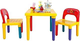 COSTWAY Juego de 1 Mesa y 2 Sillas para Niños Escritorio Asiento para Infantil Mueble para Juguete Dormitorio