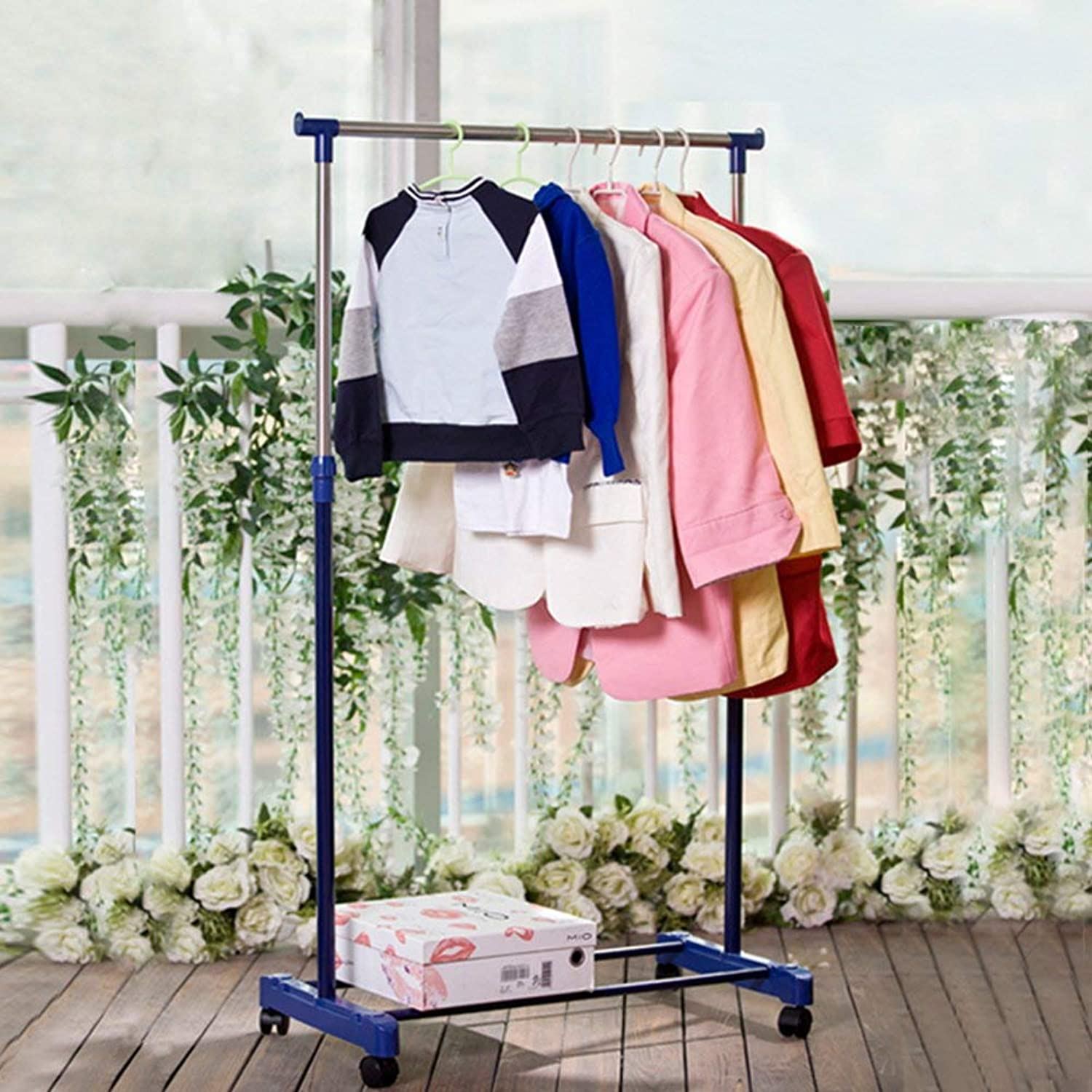 DYR Single-Hole Clothesline, Padded Stainless Steel Interior Clothes Hanger Interior Room Hanger