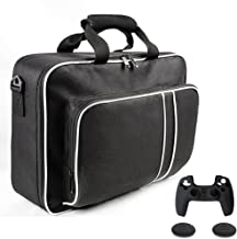 $27 » Rekeso PS5 Carrying Case, PS5 Travel Bag Storage for PS5 Console Disc/Digital Edition and Controllers, Protective PS5 Shou...