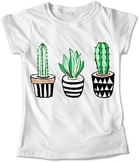 Blusa Plantas Colores Playera Estampado Cactus Macetas 035