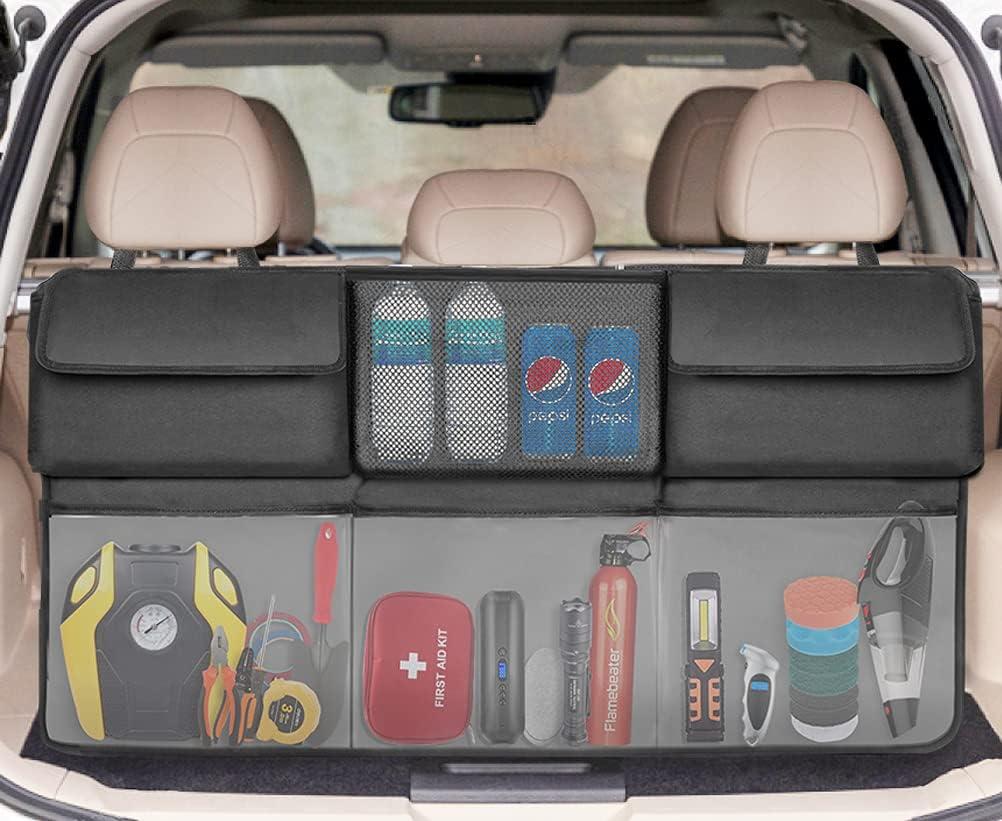 SRAMI Hanging Trunk Organizer Finally resale start Backseat New item 6 Storage Foldable with L