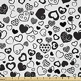 Lunarable Stoff Herzen von The Yard, Einfarbig Love Thema
