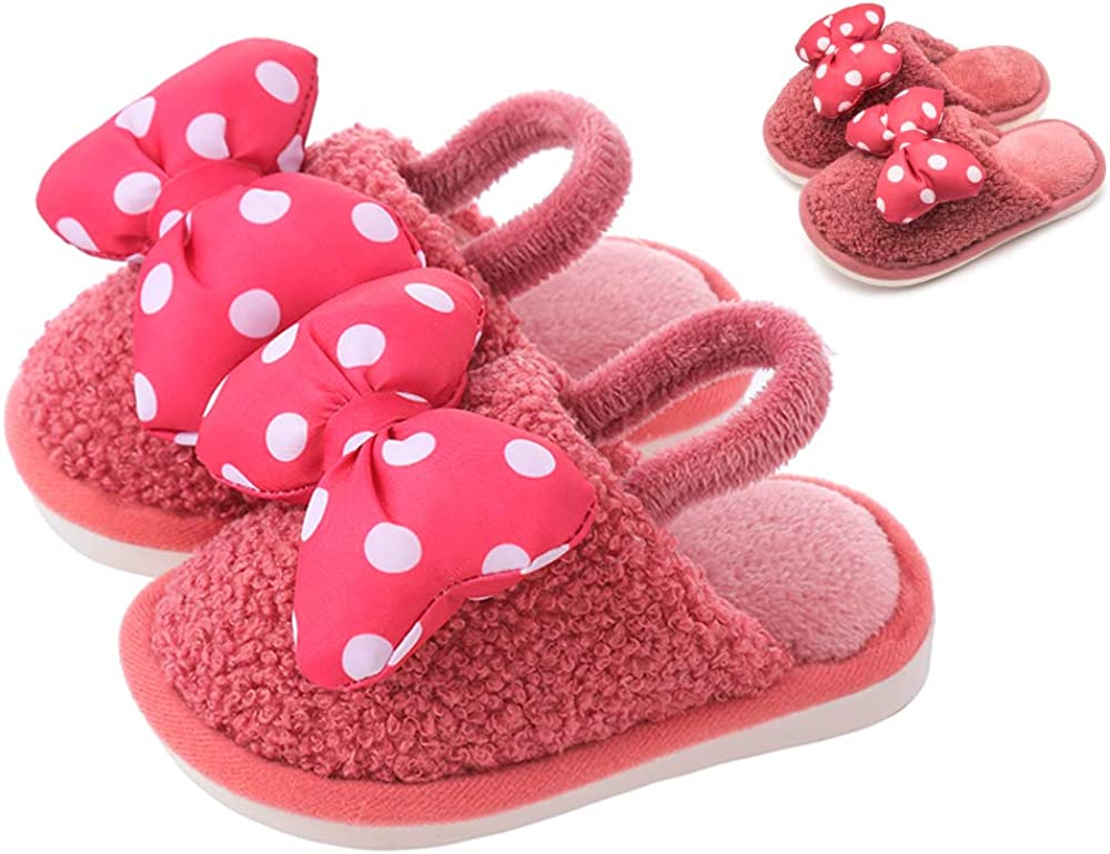 Kids Slippers Cute Bow Dot Indoor Popular H Boys for Toddler Girls Lowest price challenge Shoes