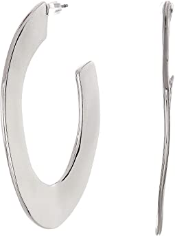 Liquid Metal Orbit Hoop Earrings