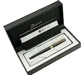 Picasso 902 Gentleman Collection Fountain Pen Medium Nib Writing Gift Pen with Original Box (Black-Golden Engraving Cap)