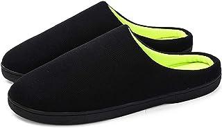Keonec Homme Confortable Pantoufles en Mousse Coton Peluche Chaussons Anti-dérapant À Glisser Chaussures Femme Homme Accue...
