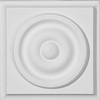 2-Pack Primed White Ekena Millwork PB03X03X01DE-CASE-2 W x 3 1//4 H x 1 1//8 P Devon Plinth Block 3 1//4 W x 3 1//4 H x