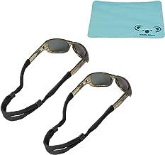 Koala Lifestyle Chums No Tail Cotton Eyewear Retainer Sunglass Strap | Adjustable Eyeglass & Sports Glasses Holder Keeper Lanyard | 2pk Bundle + Cloth