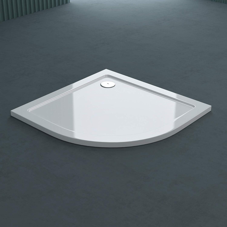 bonde AL02 Bac /à douche 75x100 receveur de douche rectangulaire blanc acrylique Sogood Faro2 75x100x4cm