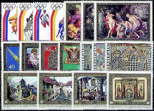 Goldhahn Liechtenstein 1975-1986 postfrischkomplett - Briefmarken für Sammler