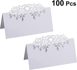 TOPBATHY Laser Cut Table Holders Personalized Hollow-Out Floral Table Decoration for Wedding Party Banquet Decor