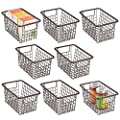 """mDesign Modern Metal Kitchen Basket with Handles, 5.25"""" High, 8 Pack from"""