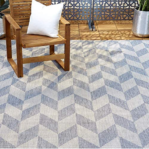 Home Dynamix Patio Country Calla Contemporary Herringbone Indoor Outdoor Area Rug 5 2 x7 2 Rectangle product image