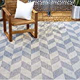 Home Dynamix Nicole Miller Patio Country Calla Indoor/Outdoor Area Rug 5'2'x7'2', Modern Geometric Blue/Gray