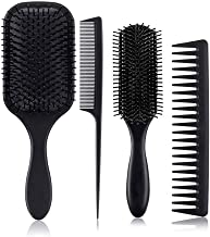 4 in 1 Hair Brush Hair Comb Set Hair Care Styling Kit for Men and Women Fit for Natural Hair Thick Hair All Hair Style