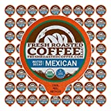 Fresh Roasted Coffee LLC, Swiss Water Decaf Organic Mexican Coffee Pods, Medium Roast, 72 Count