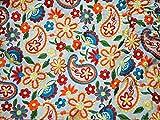 Tela de algodón bordada para manualidades, disfraces de boda, tela india, funda de cojín, tela de costura