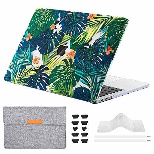 (5 in 1) Miger MacBook Pro 13 'Custodia 2017 e 2016, Custodia rigida con Cover proteggi tastiera, Custodia in feltro, Tappi antipolvere per A1706/A1708 con/senza Touch Bar e Touch ID