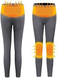 cuckoo-X Pantalones calefactables, Pantalones calefactores USB Pantalones aislantes Recargables, Hombres y Mujeres Calentamiento Inteligente Pantalones Ajustados térmicos de Capa Base, Doble/una Cara