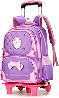 Girls Schoolbag Large Capacity Waterproof Schoolbag Children's Burden-Reducing Lever Backpack