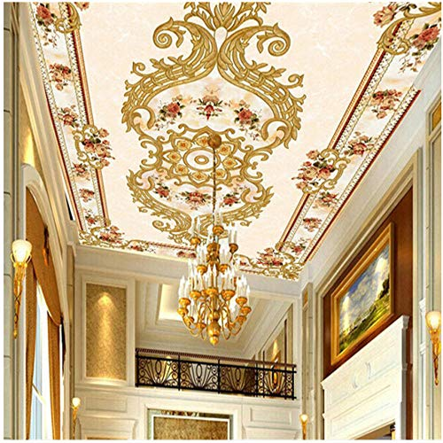 xbwy Customize Mural Wallpaper European Style Modern Luxury Ceiling Murals Hotel Hall Backdrop Home Decor-400X280Cm