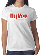 Hy-Vee Image Women's Short Sleeve T Shirt Cotton Simple Shirt Outdoor Summer Soft and Comfortable Round Neck Tops