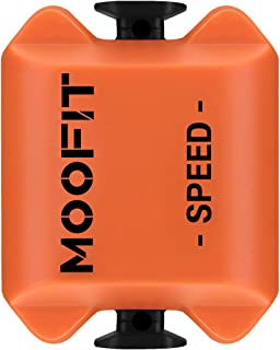 moofit Bluetooth & ANT+ Cycling Speed Sensor IP67 Waterproof Wireless Bike Speed Sensor for Wahoo, Zwift, Elite HRV, Endomondo, Peloton, Rouvy, and Cycling Computer