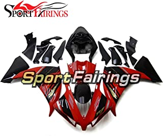 Sportfairings Plastic Injection ABS Fairing Kits For Yamaha YZF1000 R1 Year 2012-2014 12 13 14 Motorcycle Black Red Bodywork Cowlings Hulls