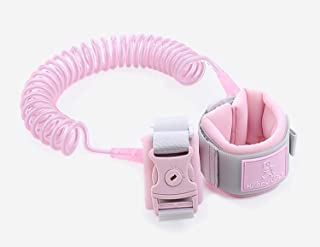 PULUSI Anti Lost Wrist Link Safety Wrist Link,Safety Harnesses and leashes for Toddlers, Babies & Kids(Pink,2M)