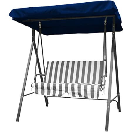 65x45x6 Inch Iptienda Patio Canopy Swing,Chair Replacement Cover,Swing Replacement top Cover UV Waterproof Sun Shade for Outdoor Garden Lawn Swing Chair Awning,Glider Swing Cover