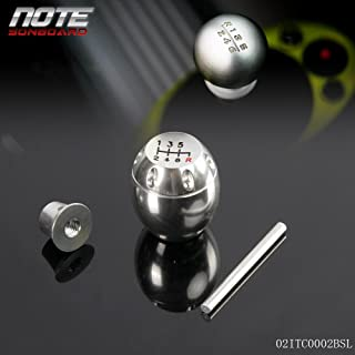 6 Speed Gear Shift Knob for Honda/Acura with 10x1.5 Pitch Thread Civic CRX Del Sol Integra RSX Silver