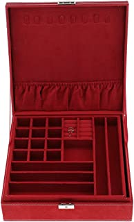 MagiDeal 1 Pcs Velvet Jewelry Box For Jewelry Display, Jewelry Storage Box - Red